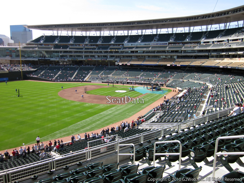 Seat view from section V at Target Field, home of the Minnesota Twins