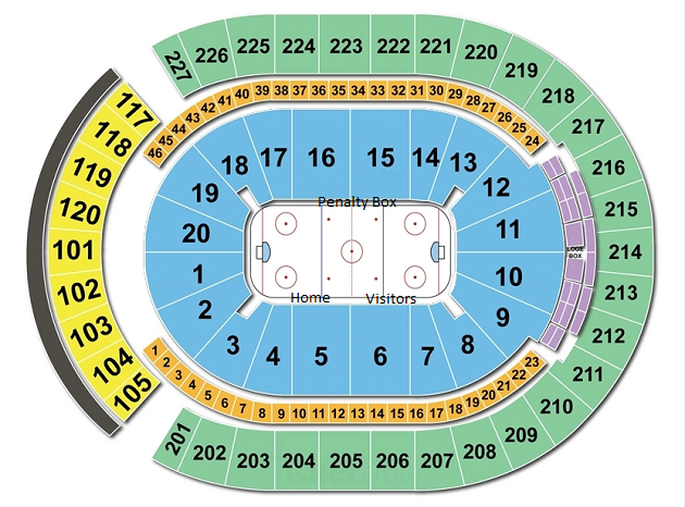 T-Mobile Arena Seating Chart/Seating Map, Vegas Golden Knights.