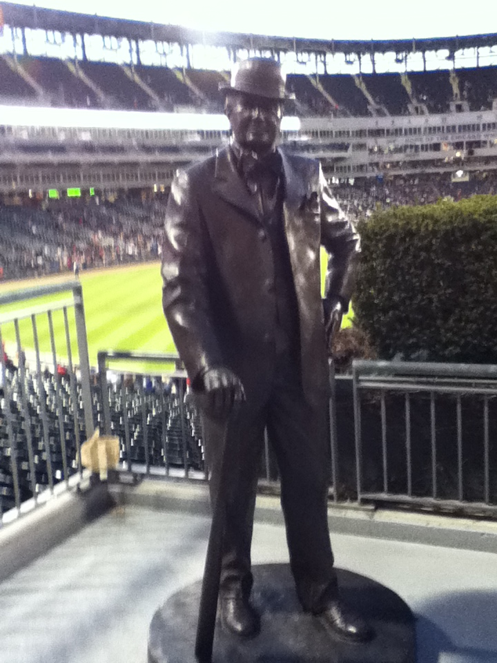 Statue of Charles Comiskey at U.S. Cellular Field, Founder of the Chicago White Sox.