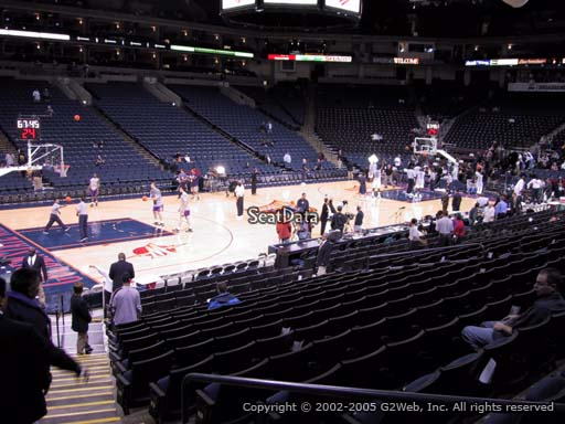 Seat view from section 104 at Oracle Arena, home of the Golden State Warriors