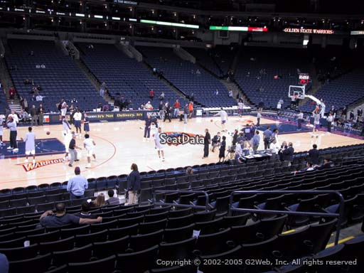 Seat view from section 116 at Oracle Arena, home of the Golden State Warriors