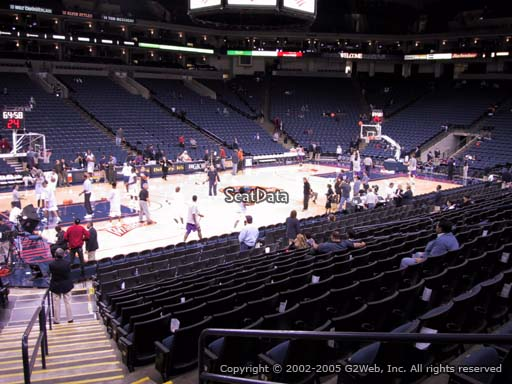 Seat view from section 117 at Oracle Arena, home of the Golden State Warriors
