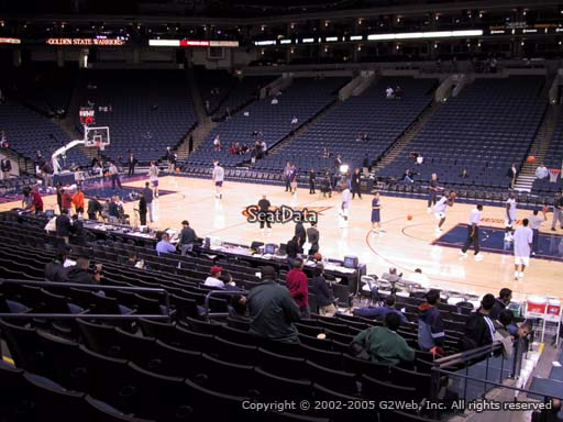 Seat view from section 127 at Oracle Arena, home of the Golden State Warriors
