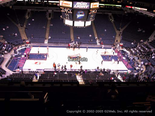 Seat view from section 201 at Oracle Arena, home of the Golden State Warriors