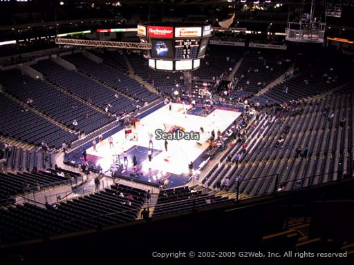Seat view from section 206 at Oracle Arena, home of the Golden State Warriors