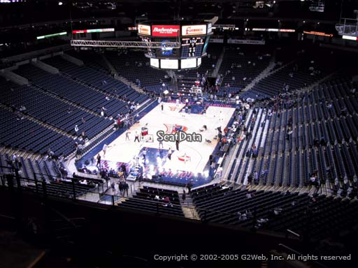 Seat view from section 207 at Oracle Arena, home of the Golden State Warriors
