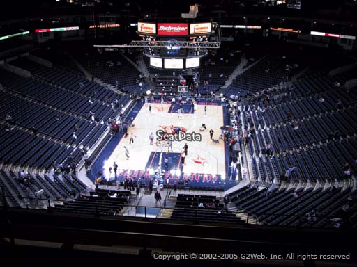 Seat view from section 208 at Oracle Arena, home of the Golden State Warriors