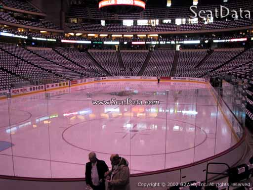 Seat view from section 121 at the Xcel Energy Center, home of the Minnesota Wild