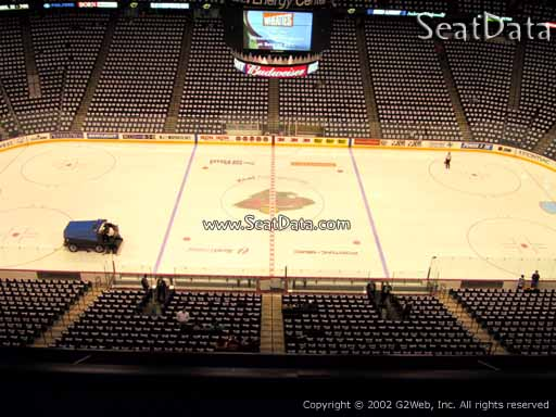 Seat view from section 219 at the Xcel Energy Center, home of the Minnesota Wild