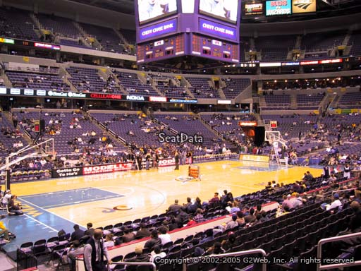 View from Section 109 at Capital One Arena, home of the Washington Wizards