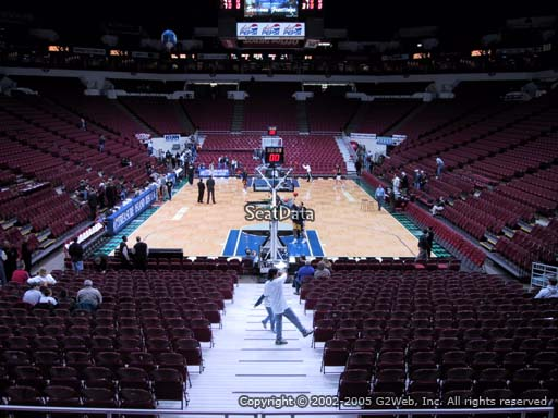 Seat view from section 121 at the Target Center, home of the Minnesota Timberwolves