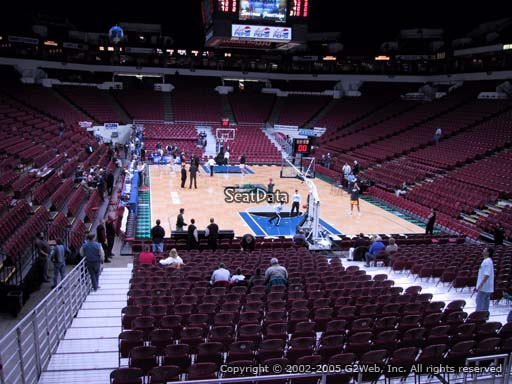 Seat view from section 124 at the Target Center, home of the Minnesota Timberwolves