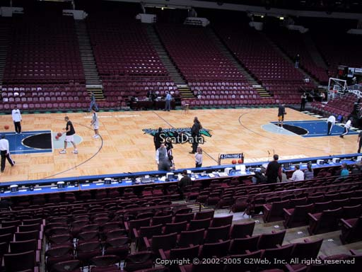 Seat view from section 132 at the Target Center, home of the Minnesota Timberwolves