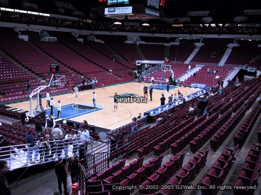 Seat view from section 136 at the Target Center, home of the Minnesota Timberwolves