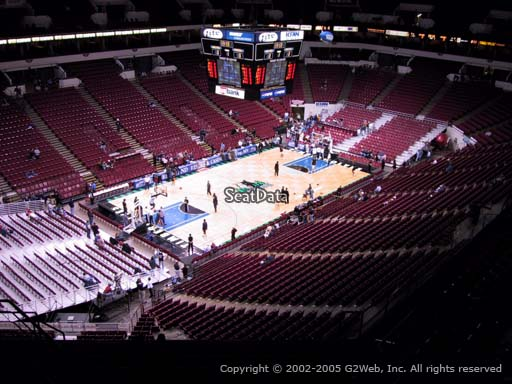 Seat view from section 216 at the Target Center, home of the Minnesota Timberwolves
