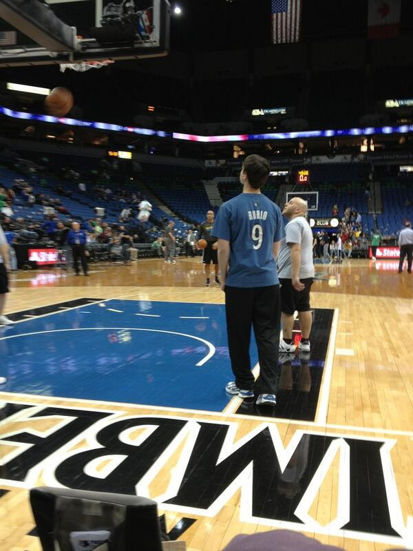 Seat view from section 100-5 at the Target Center, home of the Minnesota Timberwolves.