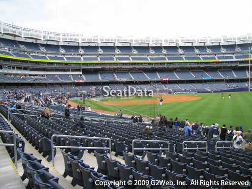 Seat view from section 109 at Yankee Stadium, home of the New York Yankees