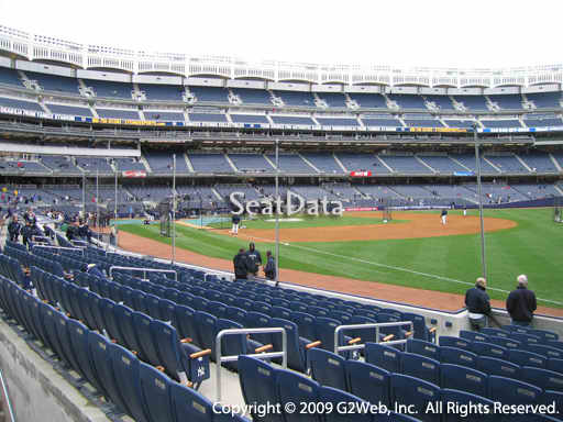 Seat view from section 11 at Yankee Stadium, home of the New York Yankees