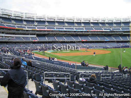 Seat view from section 110 at Yankee Stadium, home of the New York Yankees