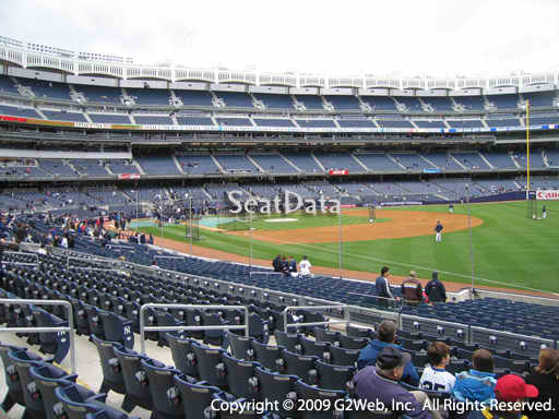 Seat view from section 111 at Yankee Stadium, home of the New York Yankees