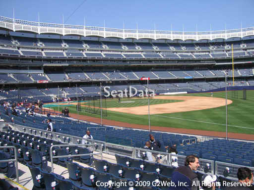 Seat view from section 112 at Yankee Stadium, home of the New York Yankees