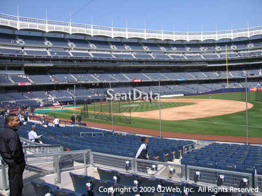 Seat view from section 113 at Yankee Stadium, home of the New York Yankees