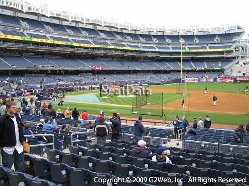 Seat view from section 114B at Yankee Stadium, home of the New York Yankees