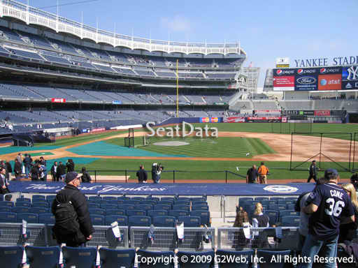 Seat view from section 116 at Yankee Stadium, home of the New York Yankees