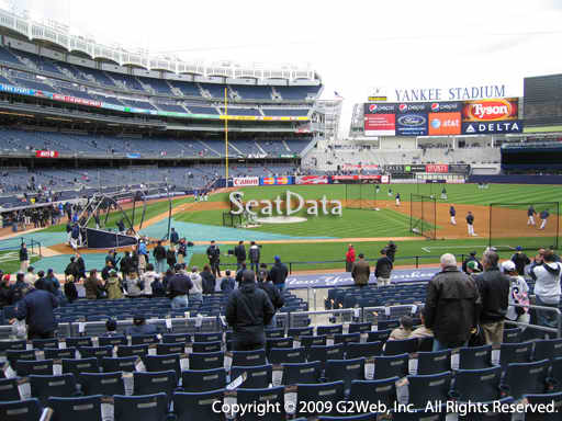 Seat view from section 117A at Yankee Stadium, home of the New York Yankees