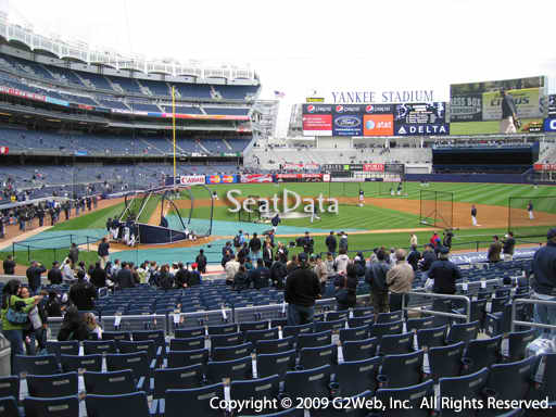 Seat view from section 117B at Yankee Stadium, home of the New York Yankees