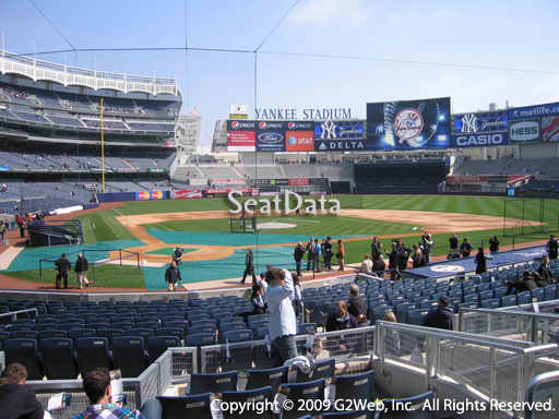 Seat view from section 118 at Yankee Stadium, home of the New York Yankees