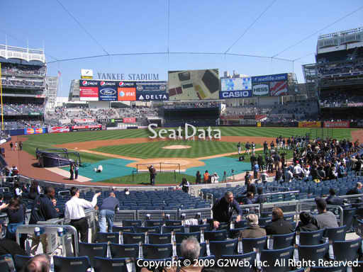 Seat view from section 120A at Yankee Stadium, home of the New York Yankees