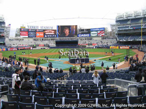 Seat view from section 120B at Yankee Stadium, home of the New York Yankees