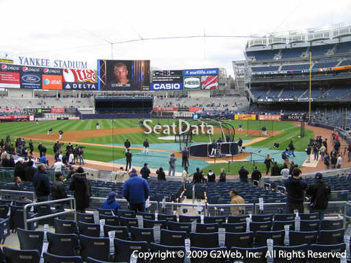 Seat view from section 121A at Yankee Stadium, home of the New York Yankees