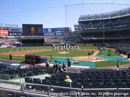 Seat view from section 121B at Yankee Stadium, home of the New York Yankees