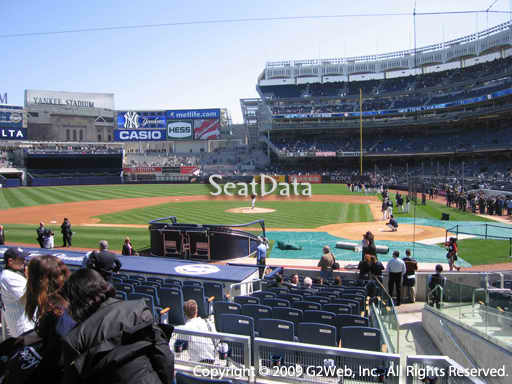 Seat view from section 122 at Yankee Stadium, home of the New York Yankees