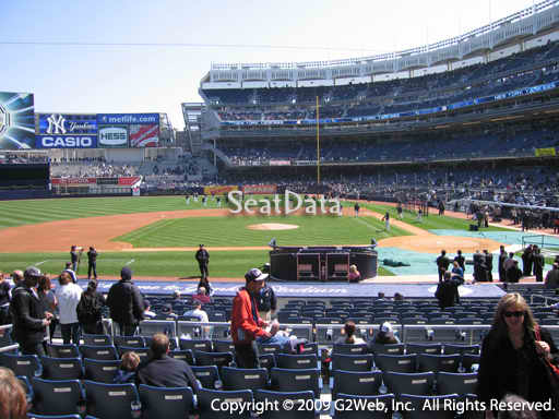 Seat view from section 123 at Yankee Stadium, home of the New York Yankees