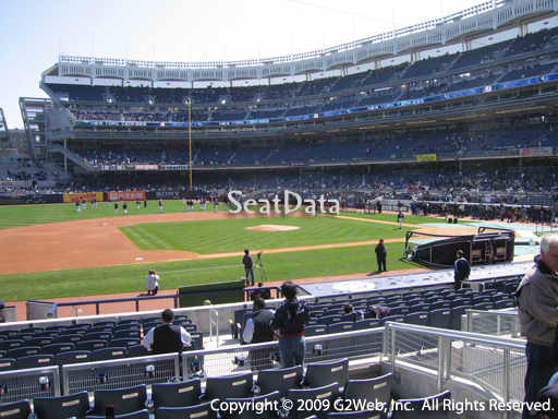 Seat view from section 125 at Yankee Stadium, home of the New York Yankees