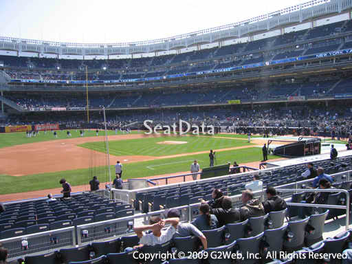 Seat view from section 126 at Yankee Stadium, home of the New York Yankees