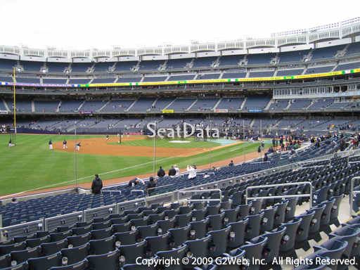 Seat view from section 129 at Yankee Stadium, home of the New York Yankees