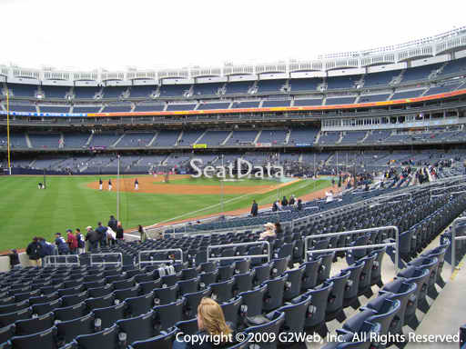 Seat view from section 130 at Yankee Stadium, home of the New York Yankees