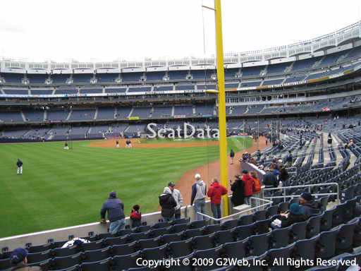 Seat view from section 132 at Yankee Stadium, home of the New York Yankees