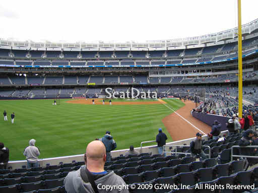 Seat view from section 133 at Yankee Stadium, home of the New York Yankees