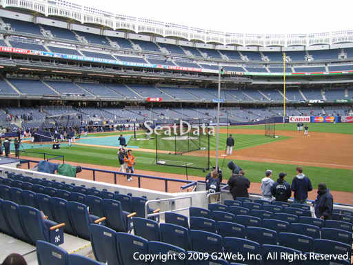Seat view from section 14B at Yankee Stadium, home of the New York Yankees