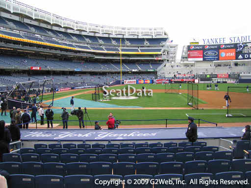 Seat view from section 16 at Yankee Stadium, home of the New York Yankees
