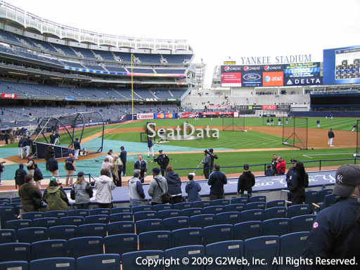 Seat view from section 17A at Yankee Stadium, home of the New York Yankees