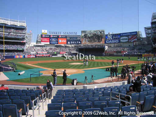 Seat view from section 19 at Yankee Stadium, home of the New York Yankees