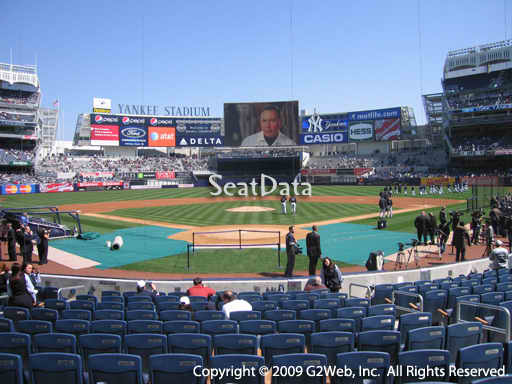 Seat view from section 20 at Yankee Stadium, home of the New York Yankees