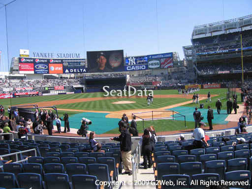 Seat view from section 21A at Yankee Stadium, home of the New York Yankees
