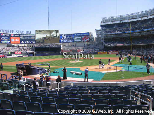 Seat view from section 21B at Yankee Stadium, home of the New York Yankees